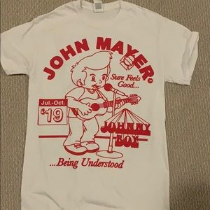 john mayer concert tour tshirt